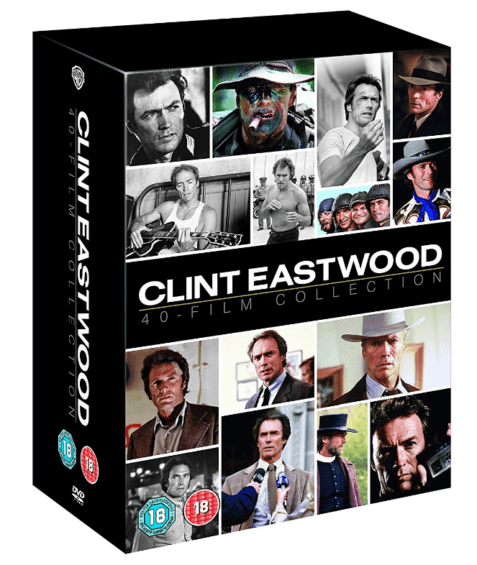 Look at the CLINT EASTWOOD 40-FILM DVD COLLECTION (available from 5th June).