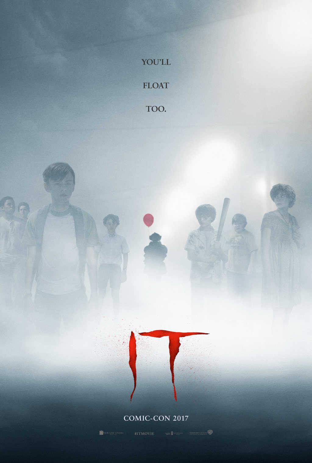 Warner Bros. release a new one sheet for IT, based on the novel by Stephen King, coming to cinemas 8th September ahead of Comic Con San Diego 2017