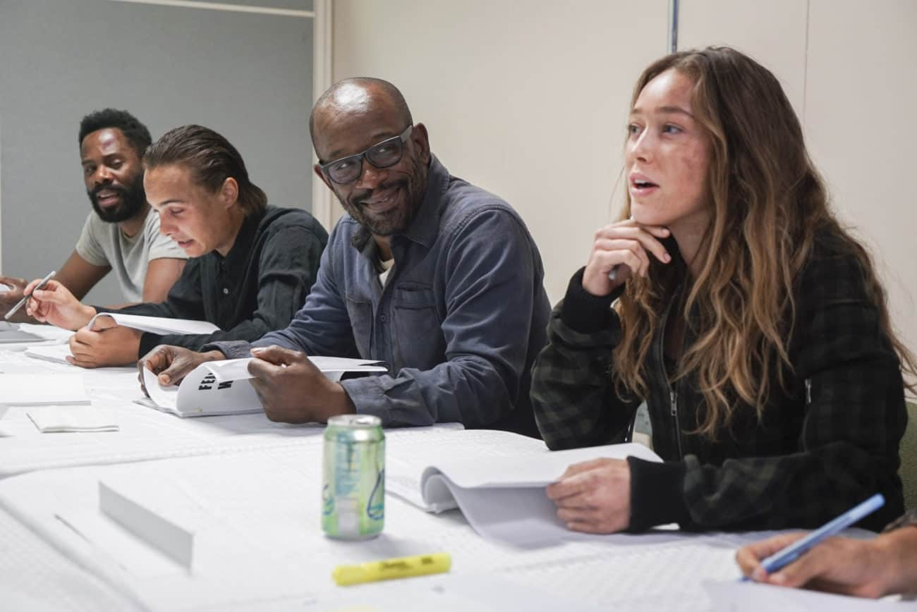 "Lennie James at a table read with ""Fear"" co-stars Colman Domingo, Frank Dillane and Alycia Debnam-Carey"
