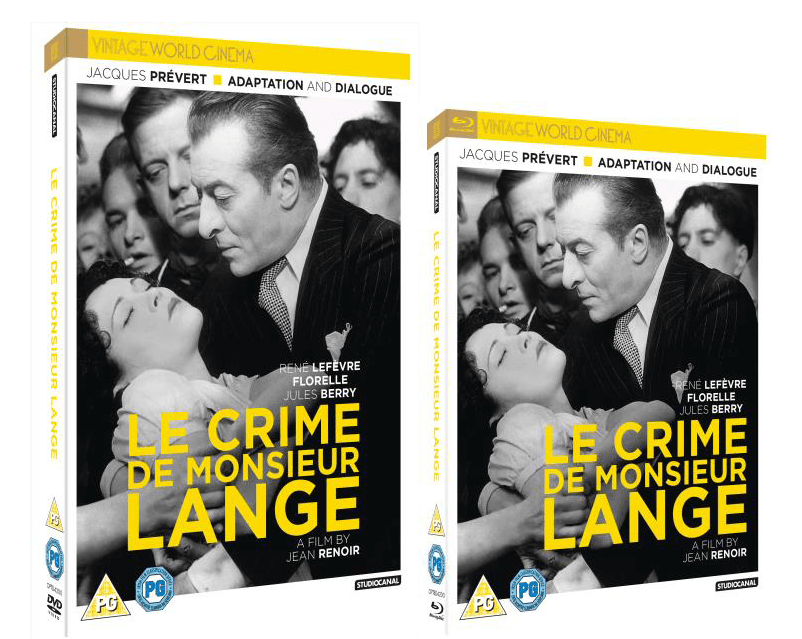 LE CRIME DE MONSIEUR LANGE IS OUT NOW ON BLU-RAY, DVD AND DIGITAL DOWNLOAD