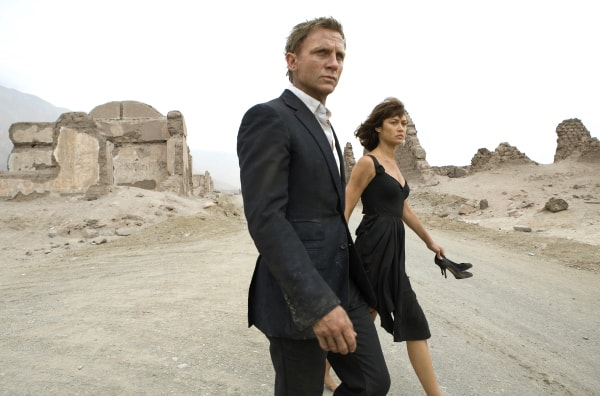Daniel Craig and Olga Kurylenko in Quantum of Solace.