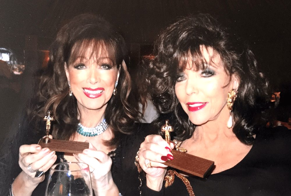 Dame Joan and Jackie Collins