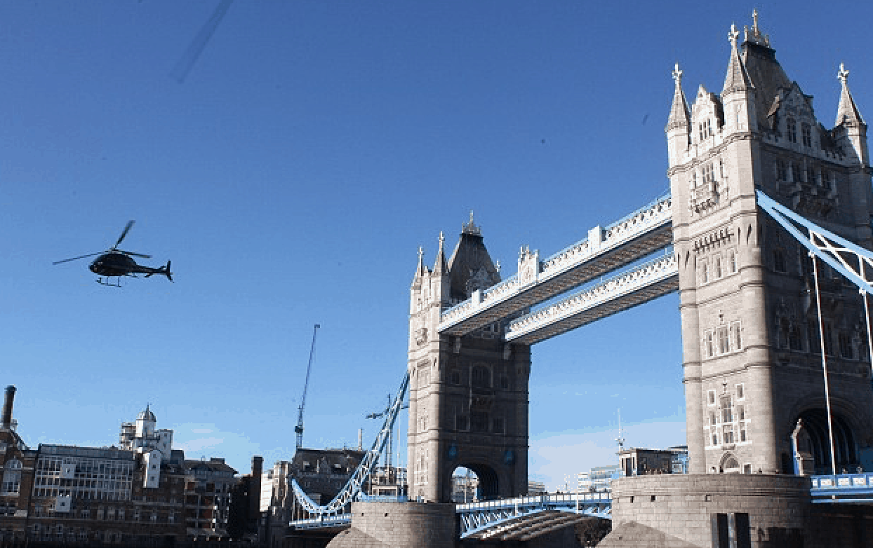 Shooting 'The Gunman' on London's famous Tower Bridge.