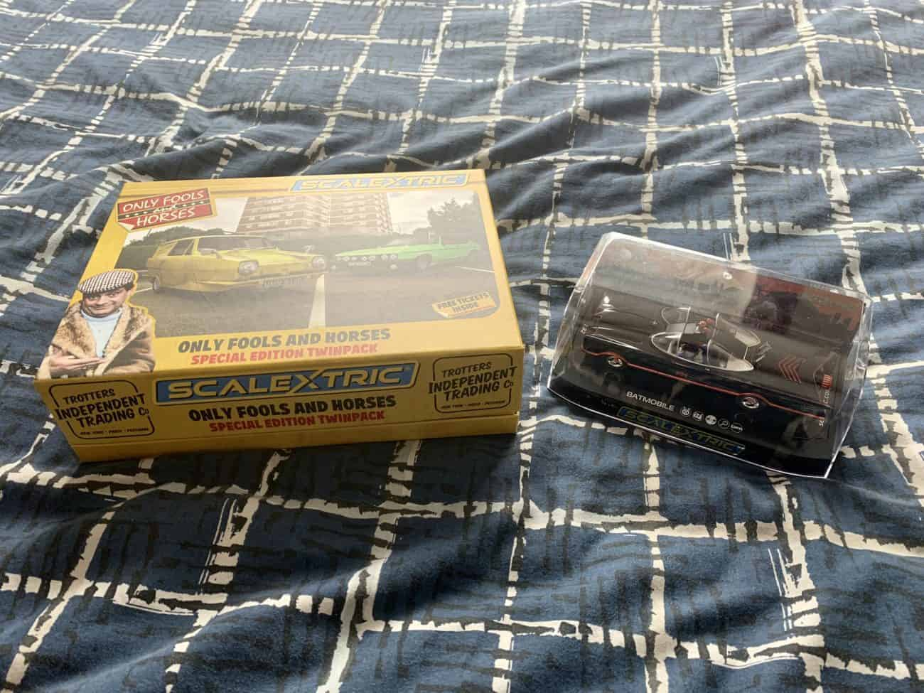 Classic Batmobile and Only Fools and Horses Reliant Robin Scalextric models lead the pack for Father's Day gifts in 2021!